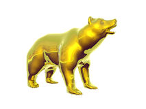Golden Bear. Isolated golden bear Stock Photo