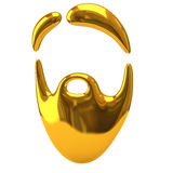Golden beard icon Stock Photo