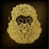 Golden beard and mustache of Santa Claus Stock Photography