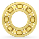 Golden bearing on white background Stock Photography