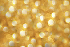 Golden beautiful abstract bokeh background Stock Photo