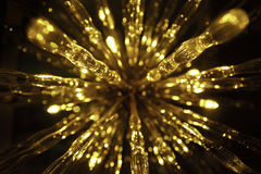 Golden beautiful abstract bokeh background Stock Photography