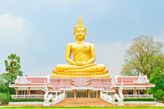 Beautiful Buddha image in Thailand. Golden Beautiful Buddha image in Thailand Stock Photos