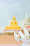 Beautiful Buddha image in Thailand. Golden Beautiful Buddha image in Thailand Royalty Free Stock Photography