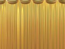 Golden beautiful curtains Stock Photo
