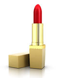 Golden Beautiful Red Lipstick Royalty Free Stock Photography