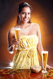 Golden beer Stock Image