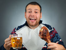 Golden beer Stock Images
