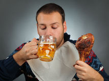 Golden beer Stock Photo