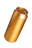 Golden beer can Royalty Free Stock Image