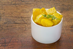 Golden beet salad Stock Images