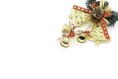 Golden bell christmas Royalty Free Stock Photo