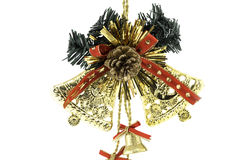 Golden bell christmas Royalty Free Stock Image