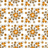 Golden bell flowers on a white background Stock Images