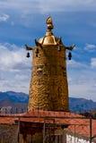 Golden bell, Lhasa, Tibet. Golden Bell in a Tibet Temple (Drepung-Klosters stock photos