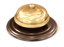 Golden bell over white Stock Image