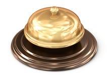 Golden bell over white Stock Image