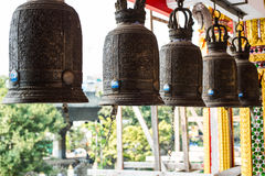 Golden bell in thai temple Royalty Free Stock Image