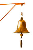 Golden Bell  at Train station Royalty Free Stock Photos