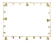 Golden Bells Christmas Border Stock Photos