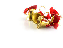 Golden bells christmas decoration Royalty Free Stock Photos