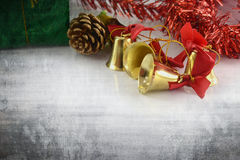 Golden bells christmas decoration Royalty Free Stock Image