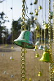 Golden bells. For decoration stock photography