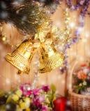 Golden bells decoration Royalty Free Stock Image