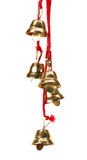 Golden bells isolated on the white background.  Royalty Free Stock Photo
