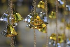 Golden bells lucky and beautiful. Golden bells lucky and beautiful Stock Image