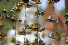 Golden bells lucky and beautiful. Golden bells lucky and beautiful Royalty Free Stock Photos