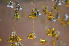 Golden bells lucky and beautiful. Golden bells lucky and beautiful Royalty Free Stock Image