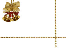 Golden bells and ribbon stock images