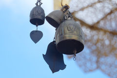 Golden bells at the temple.  Royalty Free Stock Image