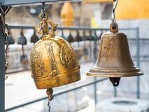 Golden Bells. In wat traimitr Thailand Royalty Free Stock Images