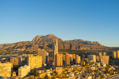 Golden Benidorm Stock Photography
