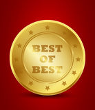 Golden best of best seal Royalty Free Stock Photo