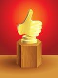 Golden best choice award Stock Photos