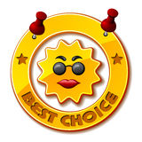 Golden best choice sun Royalty Free Stock Image