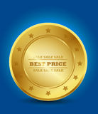 Golden Best Price Royalty Free Stock Image