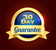 Golden Best Quality Badge. Golden and blue best quality guarantee badge Stock Image