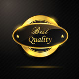 Golden best quality badge Stock Image
