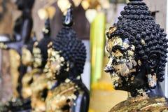 Golden bhuda face Stock Photography