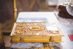 Golden Bible Royalty Free Stock Images