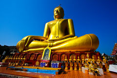 Golden Big Buddha Stock Photo