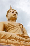 Golden big buddha. In northeast of Thailand stock photography