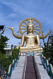 Golden big buddha Royalty Free Stock Photography