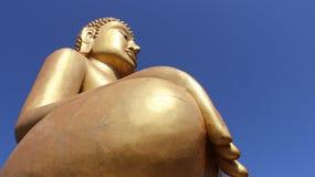 Golden big buddha stock photos