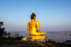 Golden big Buddha Stock Images