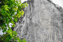 Golden Big Buddha on the mountain Stock Image